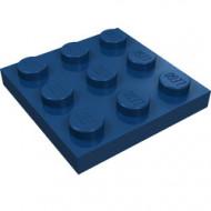11212-63 Platte plaat 3x3 blauw, donker NIEUW *5K0000