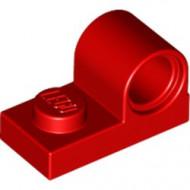 11458-5 Plaat 1x2 met pingat bovenop rood NIEUW *1L0000