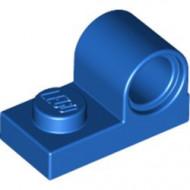 11458-7 Plaat 1x2 met pingat bovenop blauw NIEUW *1L0000