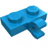 11476-153 Platte plaat 1x2 met horizontale clip LANGE einde blauw, donkerazuur NIEUW *1L0000