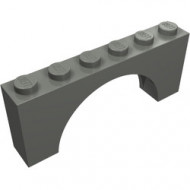 12939-85 Steen, boog 1x6x2 dunne top geen versterking onderkanr grijs, donker (blauwachtig) NIEUW *
