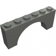 12939-85 Steen, boog 1x6x2 dunne top geen versterking onderkant grijs, donker (blauwachtig) NIEUW *