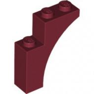13965-59 Steen, halve boog 1x3x3 (hoger model) (trapsgewijs) rood, donker NIEUW *1L257