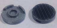 14769pb003-85 Tegel 2x2 rond met nopgat GRILLE grijs, donker (blauwachtig) NIEUW *1L0000