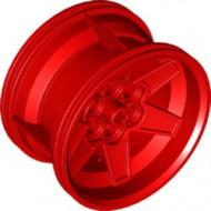 15038-5 Wiel 56mm Technic Racing midden, 6 pingaten ALLEEN VELG rood NIEUW *5W000