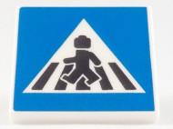 15219pb084-1 Tegel MET CLIP Zebrapad (LEGO figuur) *0A000
