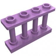 15332-157 Balustrade-hek 1x4x2 met VIER noppen bovenop lavender, midden NIEUW *1L16-9