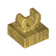 15712-115 Tegel 1x1 met clip bovenop afgeronde hoeken goud, parel NIEUW *1L288/4