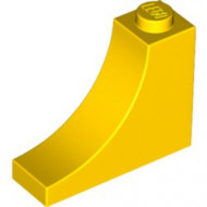18653-3 Steen,omgekeerde halve boog 1x3x2 geel NIEUW *