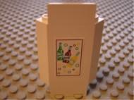 2345pb04-1G Kasteelmuur 3x3x6 hoek met flessen frisdrank Geel gebruikt loc