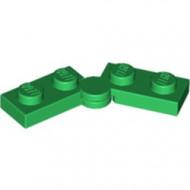2429c01-6 Scharnierplaat 1x4 compleet (horizontaal 2 x 1x2) (loc 01-09) groen NIEUW *1L300