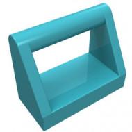 2432-156 Tegel 1x2 met hendel bovenop blauw, middenazuur NIEUW *1L321