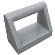2432-86 Tegel 1x2 met hendel bovenop grijs, licht (blauwachtig) NIEUW *1L0000