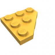 2450-110 Platte plaat 3x3 afgekapte hoek oranje, lichthelder NIEUW *