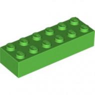 2456-36G Steen 2x6 groen, helder gebruikt *5K0000