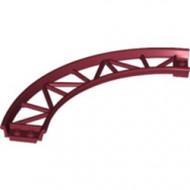 25061-59 Baan rollercoaster 90 graden gebogen rood, donker NIEUW *