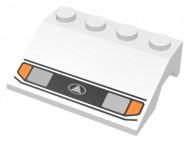 2513pb04-1G Spatbord (schuin front) metkoplampen wit gebruikt *