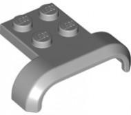28326-85 Spatbord recht met gebogen kanten, plaat 2x2 grijs, donker (blauwachtig) NIEUW *