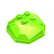 30293-108 Rotsblok, top transparant heldergroen NIEUW *5D0000