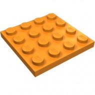 3031-4 Platte plaat 4x4 oranje NIEUW *5K0000