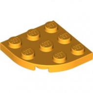 30357-110 Platte plaat 3x3 afgeronde hoek oranje, lichthelder NIEUW *5G000