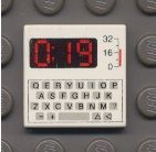 3068bp80-1G Tegel 2x2 met toetsenbord en 0:19 wit gebruikt *0D008
