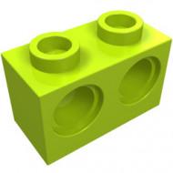 32000-34G Technic, steen 1x2 met 2 gaten lime gebruikt *