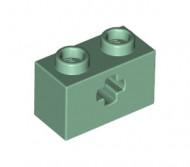 32064-48 Technic, steen 1x2 met asgat (loc 10-21) groen, zandkleurig NIEUW *1L000