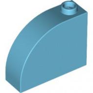 33243-156 Steen, 1x3x2 ronde top 90 graden massief blauw, middenazuur NIEUW *1L0000