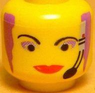3626bpb0007-3 Hoofd vrouw met headset geel gebruikt *0B0000