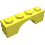 3659-103G Steen, boog 1x4x1 hoog geel, lichthelder gebruikt *