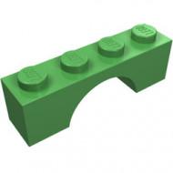 3659-36G Steen, boog 1x4x1 hoog groen, helder gebruikt *