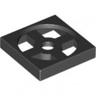 3680-11G Draaischijf 2x2 - ALLEEN BODEM zwart gebruikt *0D0004