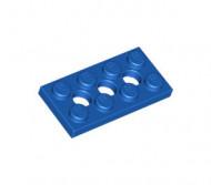 3709b-7G Technic, Plaat 2x4 met gaten blauw gebruikt *