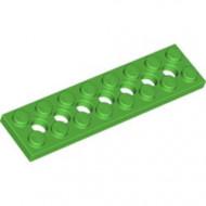 3738-36 Technic, Plaat 2x8 met gaten groen, helder NIEUW *