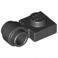 4081b-11 Platte plaat 1x1 met gesloten clip (dikke ring) zwart NIEUW *1L289/5
