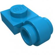 4081b-153 Platte plaat 1x1 met gesloten clip (dikke ring) blauw, donkerazuur NIEUW *1L187/1