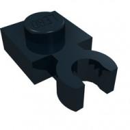 4085-11 Platte plaat 1x1 met verticale clip (loc 01-06) zwart NIEUW *1L286/3