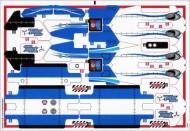 42025stk02 STICKER Cargo plane NIEUW loc