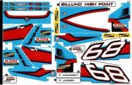 42077stk01 STICKER 42077 Rally Car NIEUW *0S0000