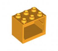 4532-110G Kastje klein 2x3x2 (zie 4533 voor deur) oranje, lichthelder NIEUW *5K000