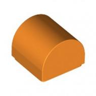 49307-4 Dakpan 1x1 halfrond oranje NIEUW *1B000