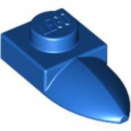 49668-7 Platte plaat 1x1 met tand IN VERLENGDE blauw NIEUW *1L290/3
