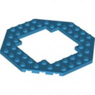 6063-153 Platte plaat achtkantig 10X10 open midden blauw, donkerazuur NIEUW *