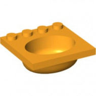 6195-110 Wasbak oranje, lichthelder NIEUW *5D0000
