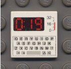 3068bp80-1G Tegel 2x2 met toetsenbord en 0:19  Wit gebruikt loc