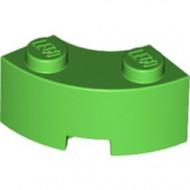 85080-36 Steen 2x2 gebogen (Macaroni) NIEUWE STIJL (andere bodem) groen, helder NIEUW *1B000