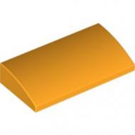 88930-110 Dakpan gebogen 2x4x2/3 geen noppen, MET bodemtubes oranje, lichthelder NIEUW *1L281