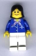 air021G Airport - Stewardes met blauw pak met sjaal gebruikt *0M0000