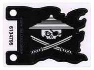 bb706pb01-12 Vlag 7x5 Witte Ninjago piraat transparant NIEUW *5K000